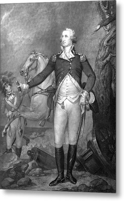 General George Washington At Trenton Metal Print by War Is Hell Store