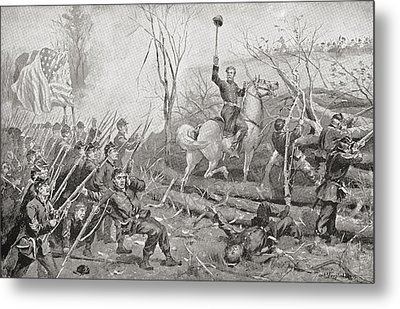 General Grant At The Battle Of Fort Metal Print by Vintage Design Pics