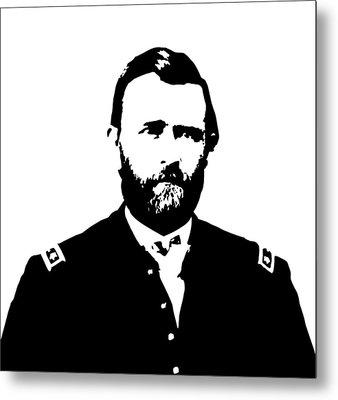 General Grant Black And White  Metal Print