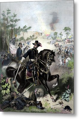 General Grant During Battle Metal Print by War Is Hell Store