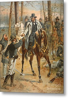 General Grant In The Wilderness Campaign 5th May 1864 Metal Print