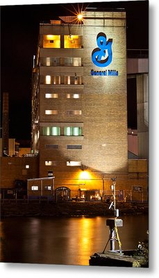 Metal Print featuring the photograph General Mills by Don Nieman