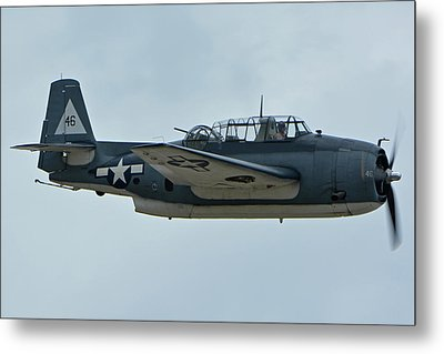 Metal Print featuring the photograph General Motors Tbm-3e Avenger Nx7835c Chino California April 30 2016 by Brian Lockett