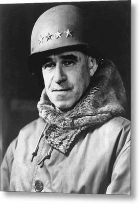 General Omar Bradley Metal Print by War Is Hell Store