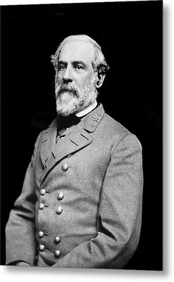 General Robert E Lee - Csa Metal Print by Paul W Faust -  Impressions of Light