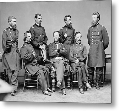 General Sherman And His Staff  Metal Print by War Is Hell Store
