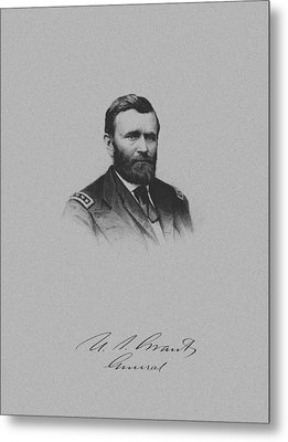General Ulysses Grant And His Signature Metal Print by War Is Hell Store
