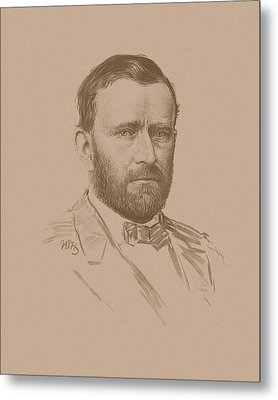 Metal Print featuring the mixed media General Ulysses S Grant by War Is Hell Store