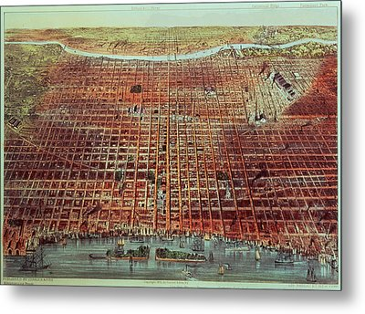 General View Of Philadelphia Metal Print by Currier and Ives