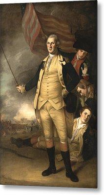 General Washington At The Battle Of Princeton Metal Print