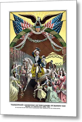 General Washington's Reception At Trenton Metal Print by War Is Hell Store