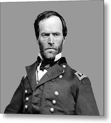 General William Tecumseh Sherman Metal Print by War Is Hell Store