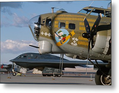 Generations B-17 And B-2 Metal Print by John Clark