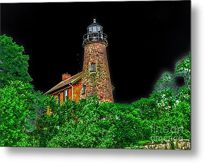 Genesee Lighthouse Metal Print by William Norton