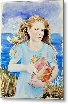 Genesis Conch Shell Rescuer Metal Print