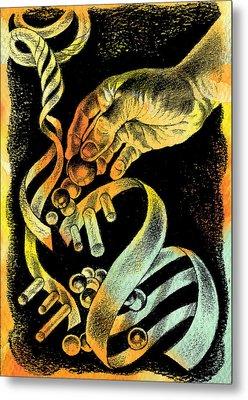 Genetic Engineering Metal Print by Leon Zernitsky