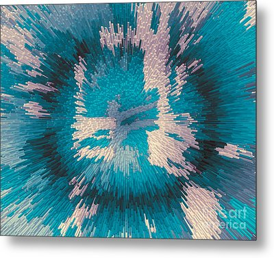 Genetic Modification Flower Metal Print