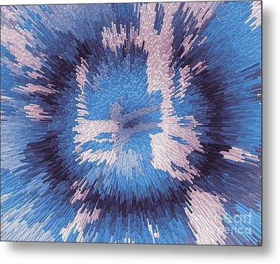 Genetic Engineering Flower Metal Print
