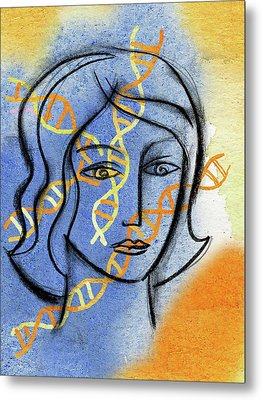 Metal Print featuring the painting Genetics by Leon Zernitsky