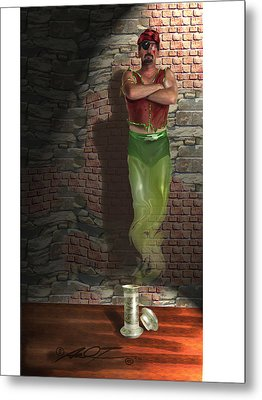 Genie In A Bottle Metal Print