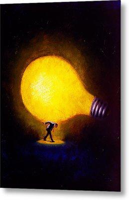 Genius Metal Print by Andrew Judd