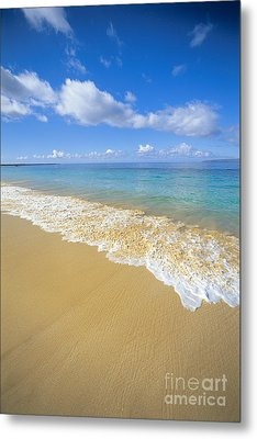 Gentle Waves Rolling Metal Print by Carl Shaneff - Printscapes