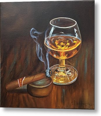 Metal Print featuring the painting Gentleman's Delight  by Susan Dehlinger