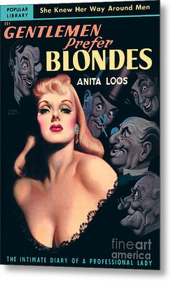 Metal Print featuring the painting Gentlemen Prefer Blondes by Earle Bergey