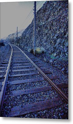 Metal Print featuring the photograph Gently Winding Tracks by Jeff Swan