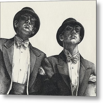 Gents Metal Print by Amy S Turner