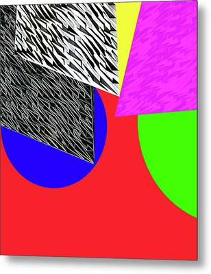 Geo Shapes 2a Metal Print by Bruce Iorio