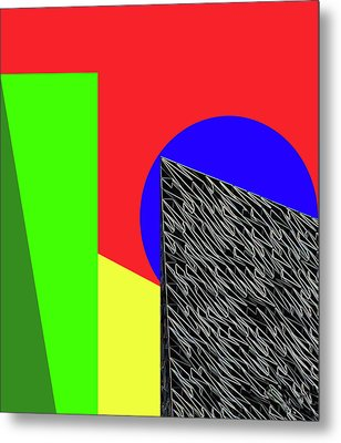 Geo Shapes 3 Metal Print by Bruce Iorio