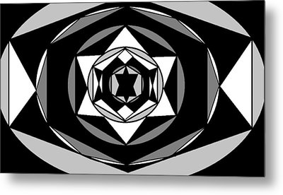 'geometric 1' Metal Print by Linda Velasquez