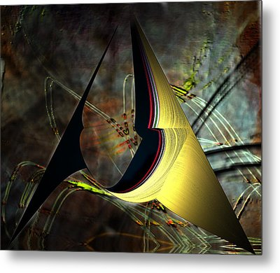 Geometric Abstract Metal Print by Irma BACKELANT GALLERIES