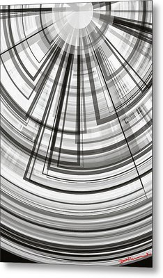 Geometric Abstract No.4 Metal Print by Donald Lawrence