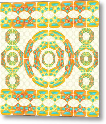Geometric Composition Metal Print