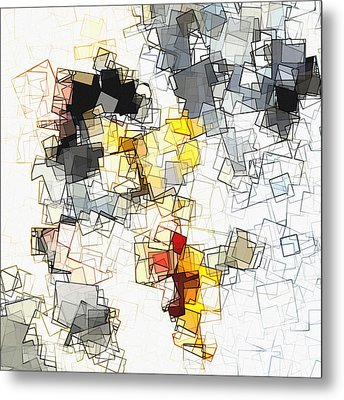 Geometric Minimalist And Abstract Art Metal Print by Ayse Deniz
