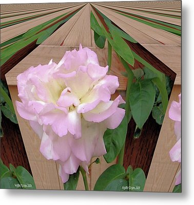 Geometric Rose Metal Print by Angie Baker