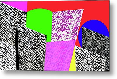 Geometric Shapes 1 Metal Print by Bruce Iorio