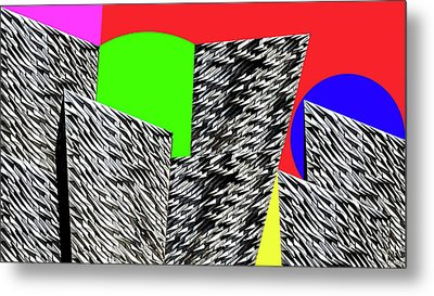 Geometric Shapes 4 Metal Print by Bruce Iorio