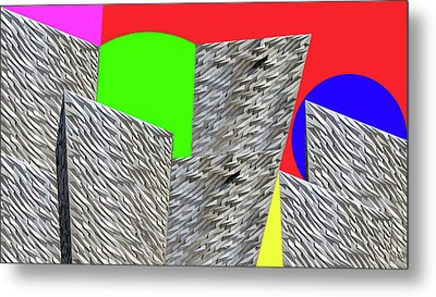 Geometric Shapes Metal Print by Bruce Iorio