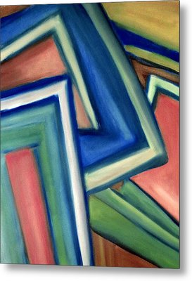 Geometric Tension Series Iv Metal Print by Patricia Cleasby