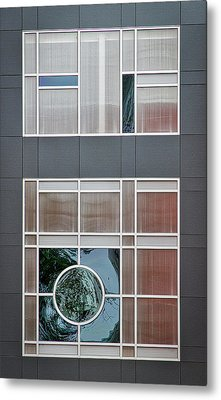 Geometric Window Abstract #2 Metal Print by Stuart Litoff