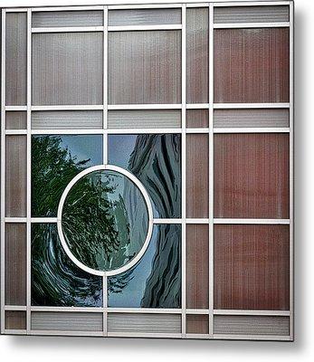 Geometric Window Abstract Metal Print by Stuart Litoff