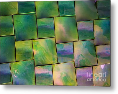 Geometrix Color Abstract Metal Print by Edward Fielding