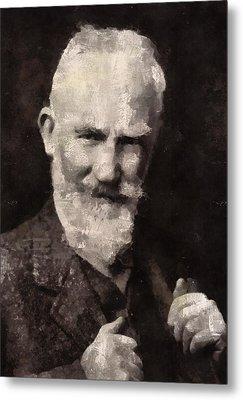 George Bernard Shaw Author Metal Print