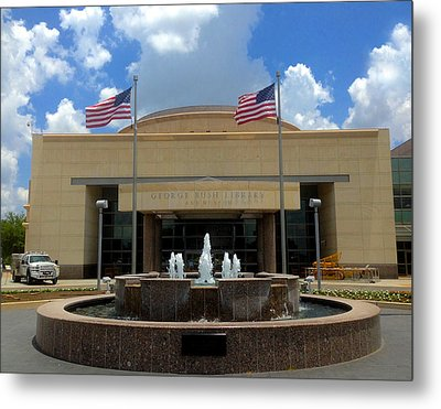 George Bush Library And Museum Metal Print by Art Spectrum