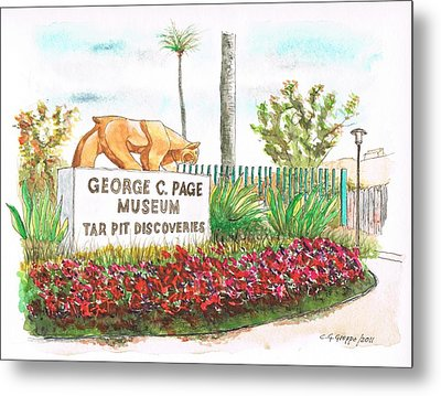 George C. Page Museum, Los Angeles - California Metal Print