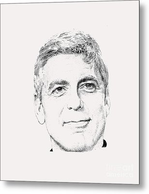 George Clooney  Metal Print by Herb Strobino
