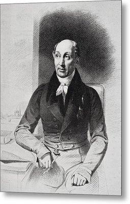 George Dawe Aged 50, 1781-1829. English Metal Print by Vintage Design Pics